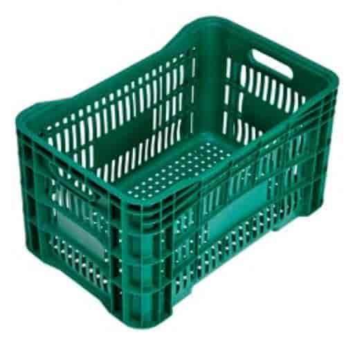 caixas plásticas vazada hortifrúti